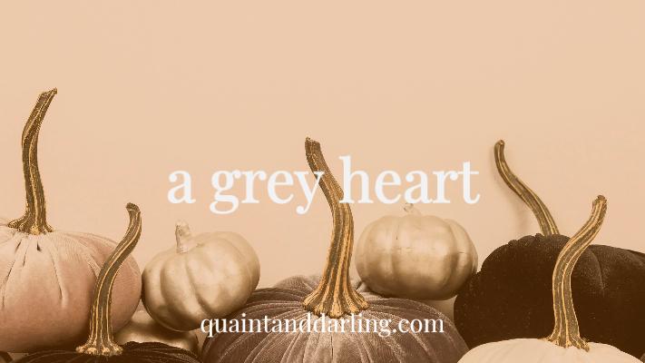 a grey heart