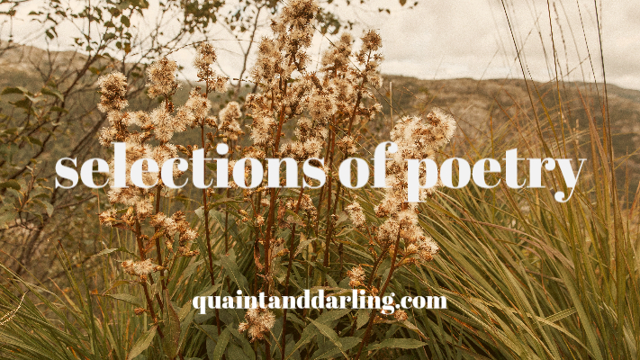 selections of poetry