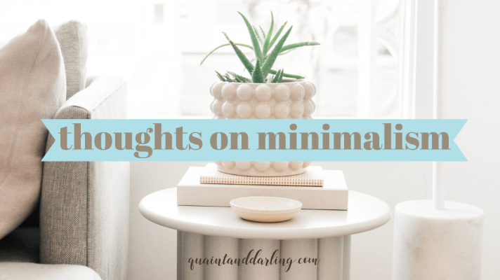 thoughts on minimalism