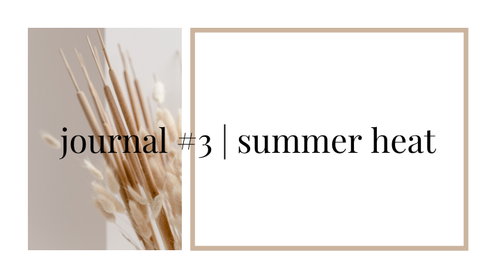 journal #3 | summer heat