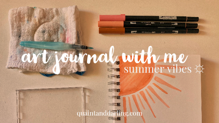 art journal with me: summer vibes ☼