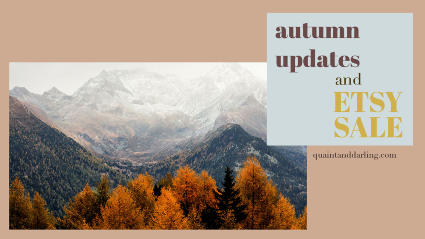 autumn update + etsysale!